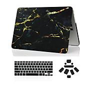 """3 in 1 marmer full body case + afdekking van het toetsenbord + stof plug voor MacBook Pro 13 """"/ 15"""""""