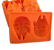 bandeja de silicone gelo licenciado Millennium Falcon molde de chocolate