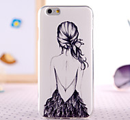 Cartoon Girl Back Design Back Cover Case for IPhone 6 Plus Iphone 6S Plus
