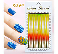 New Nail Art Hollow Stickers Flower Beard Christmas Tree Geometric Image  Design  Nail Art Beauty K091-094