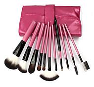 11Pcs Rose Red High-Grade Makeup Brushes Makeup Tools Makeup Brush Sets