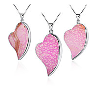 Necklace Pendant Necklaces Jewelry Party Crystal / Gem Blue / Purple / Pink / Khaki 1pc Gift