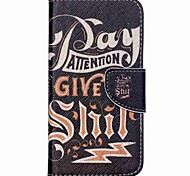 Cross Pattern Leather Card Holder Case for Wiko Rainbow Up - English Characters