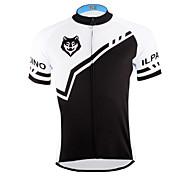 PaladinSport Men 's Short Sleeve Cycling Jersey DX622 Wolf  100% Polyester
