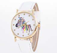 2016 New Arrival Simple Style Unisex Leisure Wrist Watch with Dial Printing Young Girl's Casual Wrist Watch