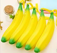 1PC  Silica Gel Banana Zero Wallet Silicone Jelly Candy Color Bag Coin Bag