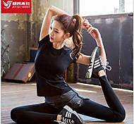 Per donna T-shirt Sport Traspirante / Morbido Nero S / M / L / XL Yoga / Pilates / Fitness / Corsa-Altro