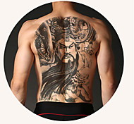 pieno tatuaggio temporaneo posteriore (2 pezzi)