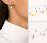 Women New Fashion Simple Stereo Surround Alloy Earrings