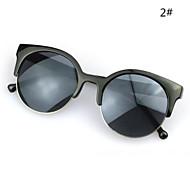 Sunglasses Women's Modern / Fashion Cat-eye Silver / Gold / Blue / Green Sunglasses Full-Rim
