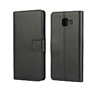 For Samsung Galaxy Case Card Holder / with Stand / Flip / Magnetic Case Back Cover Case Solid Color PU Leather Samsung A3(2016)