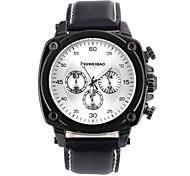 Men's Business Fashion Leather Band Quartz Watch Wrist Watch Cool Watch Unique Watch
