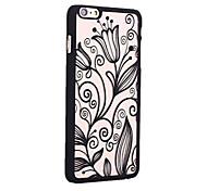 retro lily patroon opengewerkte hoogdruk PC materiaal telefoon Case voor iPhone 6 / iphone 6s