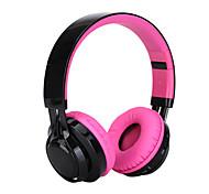 Headset Bluetooth sem fio headphones poderosos graves profundos com microfone embutido, slot para cartão SD e colorido levou a mudar