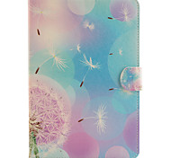 Purple Dandelion Pattern Combo Bracket TPU and PU Leather Material Case for iPad Mini 3/2/1