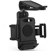 Car Plastic Sun Visor Clamp Mount Holder for Apple Mobile Phone GPS Black