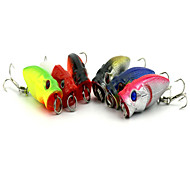 6pcs 35mm 2.71g Fishing Bait Mini Popper Lure Random Colors