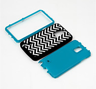 Silicone & Plastic Case For Samsung Galaxy Note 4 Double Protection Shockproof Silicone Rubber Hybird Case Cover