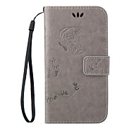 For HTC Case Wallet / Card Holder / with Stand / Flip Case Full Body Case Butterfly Hard PU Leather HTC