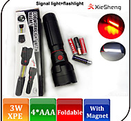 COB Magnetic Torch/ Foldable CREE XPE LED Flashlight With Camping Light Function / AAA Battery / Magnet Nightlight
