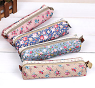Lovely, Female Elegant Creative Floral Pen Bag The Large Capacity Pen Bag