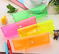Lovely Color Candy Color Pencil Case Bag Transparent Solid Small Fresh Bag