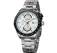 CURREN® Men's Racing Style Dress Watch Japanese Quartz Stainless Steel Strap Cool Watch Unique Watch