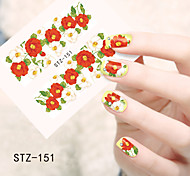1pcs  Water Transfer Nail Art Stickers  Colorful Flower Nail Art Design STZ151-155