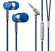 kanen estéreo de 3.5mm mãos-livres no auscultadores da orelha baixo headset baixo com microfone para smartphones