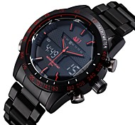 ASJ Luxury Brand Digital Electronics Sport Watch Full Stainless Steel Outdoor Diving Army Male