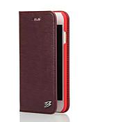 зубочистка зерна высшего сорта натуральная кожа коровы бумажника стенд случай для iphone 6с плюс