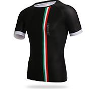XINTOWN Cycling Mens Tight T-shirt Black Quick Dry Bike Jersey Tops