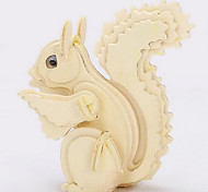 Little Squirrel Wood 3D Puzzles Diy Toys