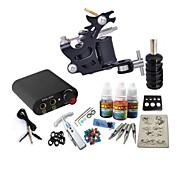 Basekey Tattoo Kit JH558  1 Machine With Power Supply Grips 3x10ML Ink