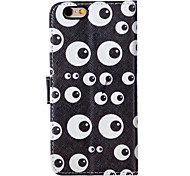 Eye Pattern PU Leather Material Phone Case for iPhone 5/5S/iPhone SE