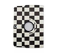 For Samsung Galaxy Case with Stand / Flip / 360° Rotation Case Full Body Case Geometric Pattern PU Leather Samsung Tab 3 10.1