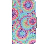 Cross Pattern Magnetic Leather Stand Cover Case for Wiko Lenny2 - Beautiful Flowers