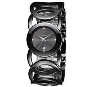 mode classique jyy® femmes dames de montres noir complet alliage quartz robe montres relojes mujer relogio feminino