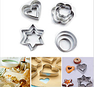 Star Heart Flower Cookie Cutter Sporting Shapes Biscuit Mold Stainless Steel Omelette device,Set of 12