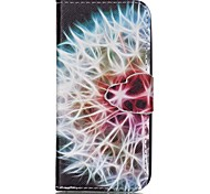 Finger Dandelion Painted PU Phone Case for iphone5SE