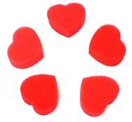 Любовная магия реквизита губка сердце красный 5pcs