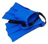 Portable Rubber Material Diving Fins for Diving/Swimming Blue,Green,Orange,Yellow