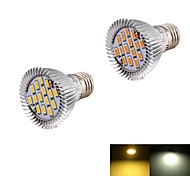 7W E26/E27 Focos LED BA 15 SMD 5630 560 lm Blanco Cálido / Blanco Fresco Decorativa AC 85-265 / AC 100-240 / AC 110-130 V 2 piezas