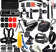 50-in-1 Professional Kit Accessories Bundle for Gopro HD Hero 4 / 3+ / 2 / 1 - Black