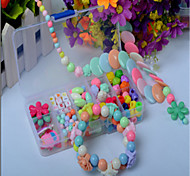 Ten, Colorful Diy Handmade Beaded Suit Children Educational Toys Necklace Gift