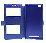 Window Flip Cover Support Silk Grain Fashion Mobile Phone Shell for hong mi 3 Assorted Colors