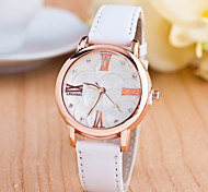 Sport Watch Dress Watch Fashion Watch Wrist watch Quartz Genuine Leather Band Charm Casual Multi-Colored