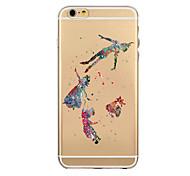 coloré dessin ou modèle tpu soft shell transparent phone case cas de couverture arrière pour iPhone6 plus / 6s, plus