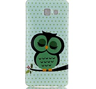 Sleeping Owl Pattern TPU Back Case for Galaxy A5(2016)/Galaxy A5(2016)