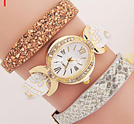 Ladies' Watch Ms Han Edition PU Leather Watch Three Strap Suit Diamond Watches